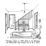 Thursday, August 2, 1990, Early in the Morning, the Watternods' Dog Ponder… - New Yorker Cartoon Premium Giclee Print by George Booth
