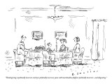 """""""Thanksgiving is politically incorrect, turkey is politically incorrect, y…"""" - New Yorker Cartoon Premium Giclee Print by Barbara Smaller"""