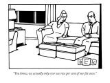 """You know, we actually only ever use two per cent of our fat asses."" - New Yorker Cartoon Premium Giclee Print by Bruce Eric Kaplan"