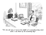 """""""It's the old story. I was in the middle of successful acting career  when…"""" - New Yorker Cartoon Premium Giclee Print by Leo Cullum"""