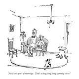 """""""Forty-one years of marriage.  That's a long,  long, long learning curve."""" - New Yorker Cartoon Premium Giclee Print by George Booth"""