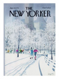 The New Yorker Cover - January 29, 1979 Premium Giclee Print by Charles Saxon