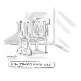 How Chairs Have Sex - New Yorker Cartoon Premium Giclee Print by Robert Mankoff