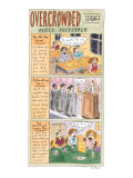 Overcrowded Schools-Three Proposals'The All-Day School' shows kids sleepin… - New Yorker Cartoon Premium Giclee Print by Roz Chast