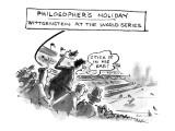 Philosopher's Holiday-Wittgenstein At The World Series - New Yorker Cartoon Premium Giclee Print by Lee Lorenz