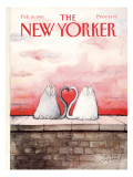 The New Yorker Cover - February 18, 1991 Premium Giclee Print by Ronald Searle
