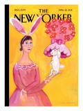 Everywhere I Go I See Hats - The New Yorker Cover, April 25, 2011 Regular Giclee Print by Maira Kalman