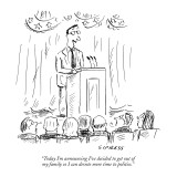 """Today I'm announcing I've decided to get out of my family  so I can devot…"" - New Yorker Cartoon Premium Giclee Print by David Sipress"