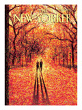 Autumn in Central Park - The New Yorker Cover, November 9, 2009 Premium Giclee Print by Eric Drooker