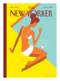 Dropped Call - The New Yorker Cover, August 9, 2010 Regular Giclee Print by Christoph Niemann