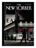 Evening Walk - The New Yorker Cover, March 22, 2010 Regular Giclee Print by Jorge Colombo