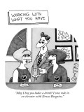"Working With What You Have' -""May I buy you ladies a drink? I once rode in…"" - New Yorker Cartoon Premium Giclee Print by J.C. Duffy"