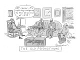 Old Psychics' Home - New Yorker Cartoon Premium Giclee Print by Danny Shanahan