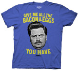 Parks and Recreation - Bacon & Eggs (Slim Fit) T-Shirts