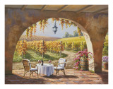 Vineyard for Two Print by Sung Kim