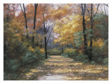Autumn Road Print by Diane Romanello