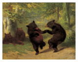 Dancing Bears Art by William Holbrook Beard