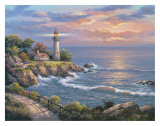 Sunset at Lighthouse Point Prints by Sung Kim