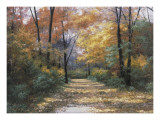 Autumn Road Prints by Diane Romanello