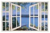 Hora de isla con ventana (Island Time with Window) Póster por Diane Romanello