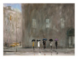 Waiting For A Cab, Park Avenue Lámina por Max Moran