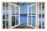 Island Time with Window Poster by Diane Romanello