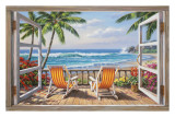 Tropical Terrace for Two Print by Sung Kim
