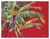 Fire Palm Art Print by Jean Bradley