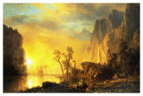 Sunset in the Rockies Art by Albert Bierstadt