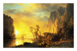Sunset in the Rockies Prints by Albert Bierstadt