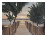 Palm Promenade Art by Diane Romanello