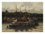 Boats at Night Posters by  Furtesen