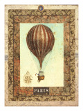 Vintage Hot Air Balloon I Posters by Miles Graff