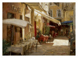 Cafe de Provence Posters by Leonard Wren