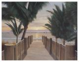 Palm Promenade Art by Diane Romanello