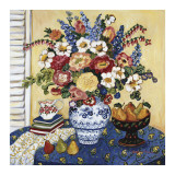 Ann's Favorite Blue And White Floral Prints by Suzanne Etienne