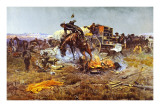Camp Cook's Troubles Prints by Charles Marion Russell