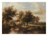 Avon near Glastonbury Poster by  Willard