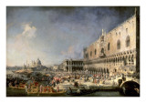 The Reception of the French Ambassador in Venice Posters by  Canaletto