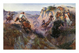 The Wild Horse Hunters Posters af Charles Marion Russell