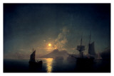 The Bay of Naples by Moonlight, 1842 Prints by Ivan Aywasovsky