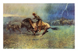 The Stampede Prints by Frederic Sackrider Remington