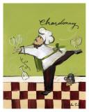 Wine Chef Chardonnay Prints by Jennifer Sosik