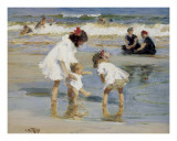 Children Playing at the Seashore Art by Edward Henry Potthast