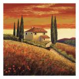 Santo De Vita - Sunset Over Tuscany II Umění