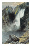 The Upper Yellowstone Falls Prints by Thomas Moran