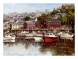 Calm on the Harbor Prints by  Furtesen