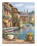 Cafe At The Canal Affiches par Sung Kim