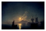 The Bay of Naples by Moonlight, 1842 Print by Ivan Aywasovsky