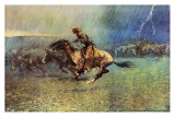 The Stampede Art by Frederic Sackrider Remington